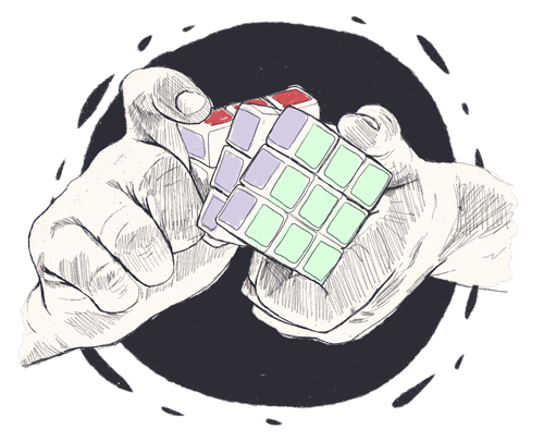 hands solving rubik's cube-Technology Change Management